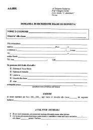 domanda di iscrizione esami di idoneità - Liceo Statale C. Montanari