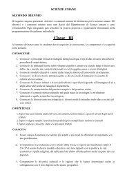 terza scienze umane - Liceo Statale C. Montanari