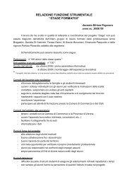 stage formativi - Liceo Statale C. Montanari