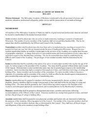 Bylaws PDF - Milwaukee Academy of Medicine