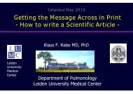Getting the Message Across in Print - How to write a Scientific Article -
