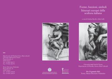 Forme, funzioni, simboli Itinerari europei della scultura italiana