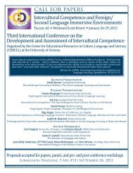 Intercultural Competence and Foreign - CERCLL - University of ...