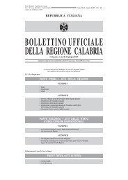 repubblica italiana bollettinoufficiale della regione calabria