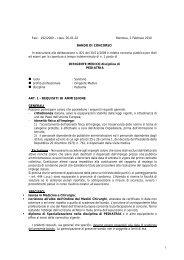 class. 05-01-02 Mantova, 2 Febbraio 2010 BANDO DI CONCORSO ...