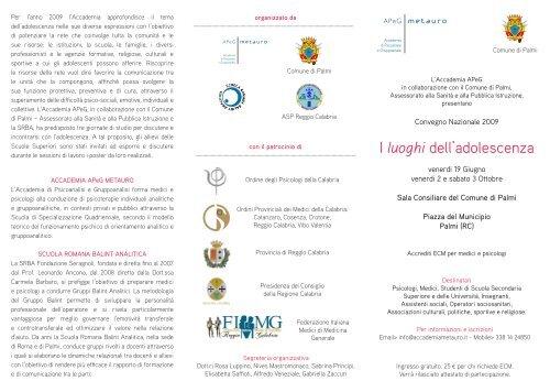 I luoghi dell'adolescenza - Ordine Medici ed Odontoiatri Vibo Valentia