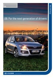 i30. For the next generation of drivers - Extranet