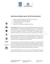 Alfa Romeo Giulietta: Neuer 105 PS Turbo Benziner