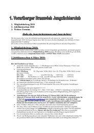 1. Mitgliedsbeitrag 2010 - Braunvieh Vorarlberg