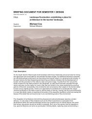 establishing a place for architecture in the tourists - MArch(Prof ...