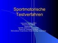 Sportmotorische Testverfahren - Universität Flensburg