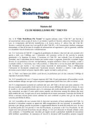 Statuto del CLUB MODELLISMO PIU' TRENTO - Le Gallerie di ...