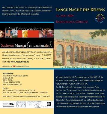 Lange Nacht des Reisens - Kulturhistorisches Museum