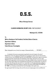 Office of Strategic Services CLASSIFIED INFORMATION, SECURITY ...