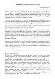 L'uniformità e la correttezza nello scrivere - Le Gallerie di ...