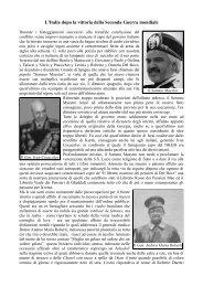 L'Italia dopo la vittoria della Seconda Guerra mondiale