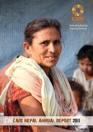 CARE NEPAL ANNUAL REPORT 2011