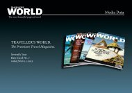 The Premium Travel Magazine. - TRAVELLER´S WORLD Magazin