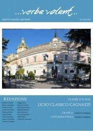 Verba volant - Liceo Statale Cagnazzi