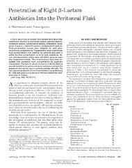 Penetration of Eight f3-Lactam Antibiotics Into the Peritoneal Fluid