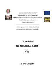 Documento V C - Liceo Statale Cagnazzi
