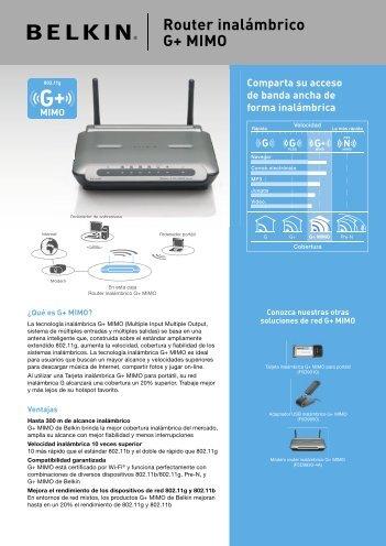 Router inalámbrico G+ MIMO
