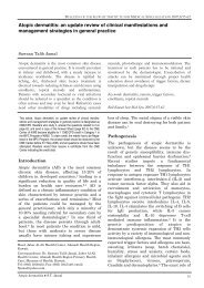 Atopic dermatitis: an update review of clinical manifestations and ...