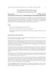 Versuch 9 T:2011-06-14 Numerische Lösung der zeitabhängigen ...