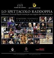 brochure Copertina 20x20 Stagione Teatrale - 2010 ... - Politeama