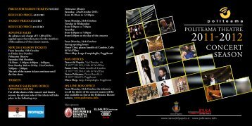 concert-season-2011 - Politeama.info