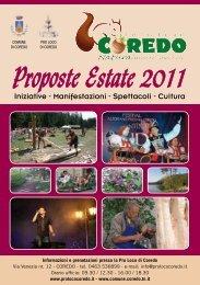 Proposte Estate 2011 - Comune di Coredo