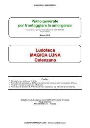 Piano d'emergenza - Comune di Calenzano