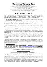 BANDO DI GARA Gestione Start - Comune di Calenzano