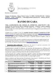 BANDO Assicurazioni - Comune di Calenzano