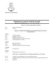 Regolamento in materia di diritto allo studio - Comune di Calenzano