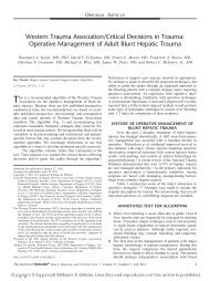 Operative Management of Adult Blunt Hepatic Trauma - ResearchGate