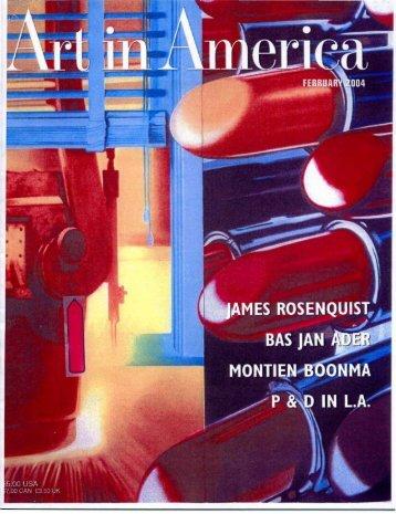 """James Rosenquist at Full Scale"", Art in America ... - Richard Kalina"