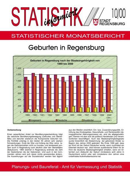 Geburten in Regensburg (10/00) - Statistik.regensburg.de - Stadt ...
