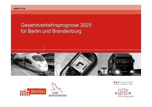 Gesamtverkehrsprognose 2025 für Berlin und Brandenburg