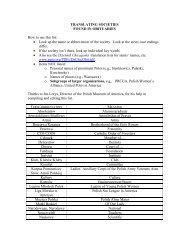 TRANSLATING SOCIETIES - Polish Genealogical Society of America