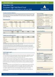 Aberdeen Life European High Yield Bond Fund - Aberdeen Asset ...