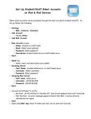 Set Up Student/Staff Ednet Accounts on iPod & iPad Devices