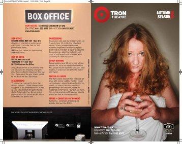 autumn season for 2009 - Tron Theatre