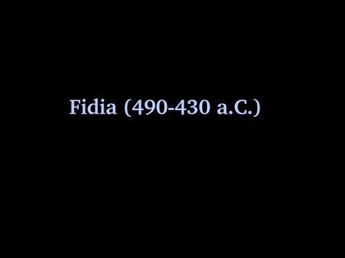 Opere di Fidia - Liceomanara.it