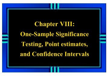 Procedure for A Test of Significance - One-sample Z or t