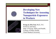 Developing New Techniques for Assessing Nanoparticle Exposures ...