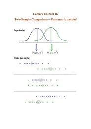 Lecture 02. Part II. Two-Sample Comparison -- Parametric method
