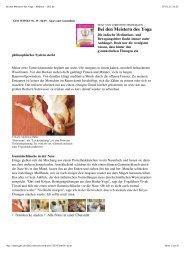 Bei den Meistern des Yoga - Medizin - GEO.de - Y-Campus