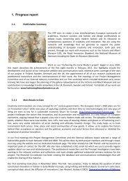 1. Progress report - Fashioning the Early Modern