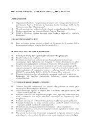 Regulamin konkursu - Muzeum Pałac w Wilanowie